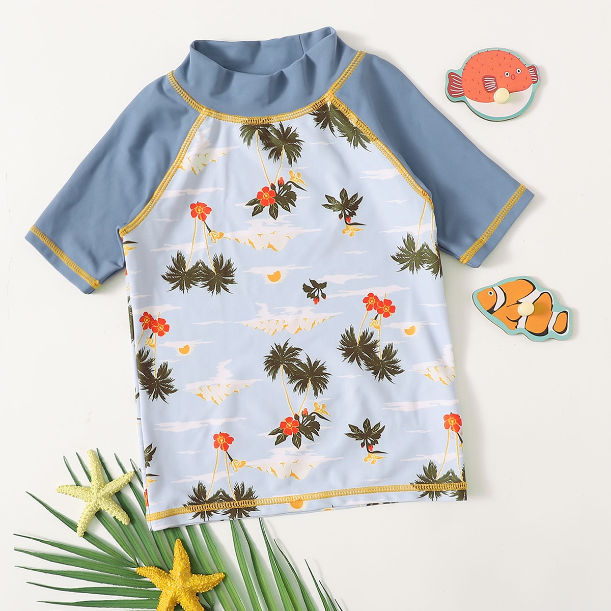 Тропический спортивный купальник для мальчиков