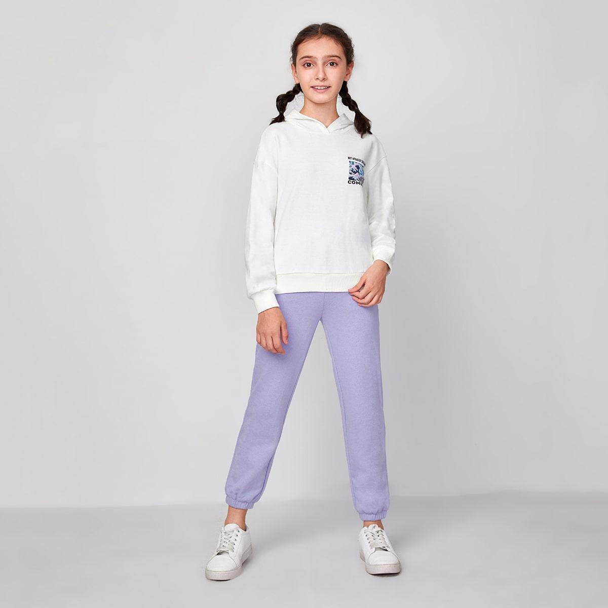Контрастный цвет повседневный комплекты для девочек