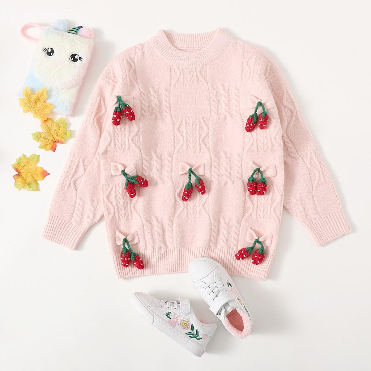 Фрукты и овощи милый свитера для девочек