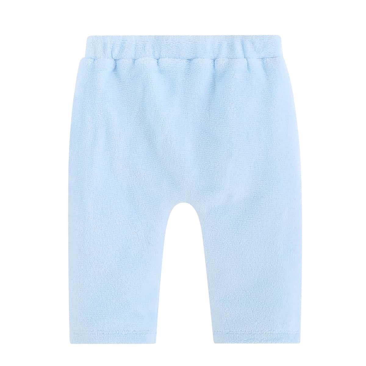 С вышивкой мультяшный принт милый брюки для маленьких девочек
