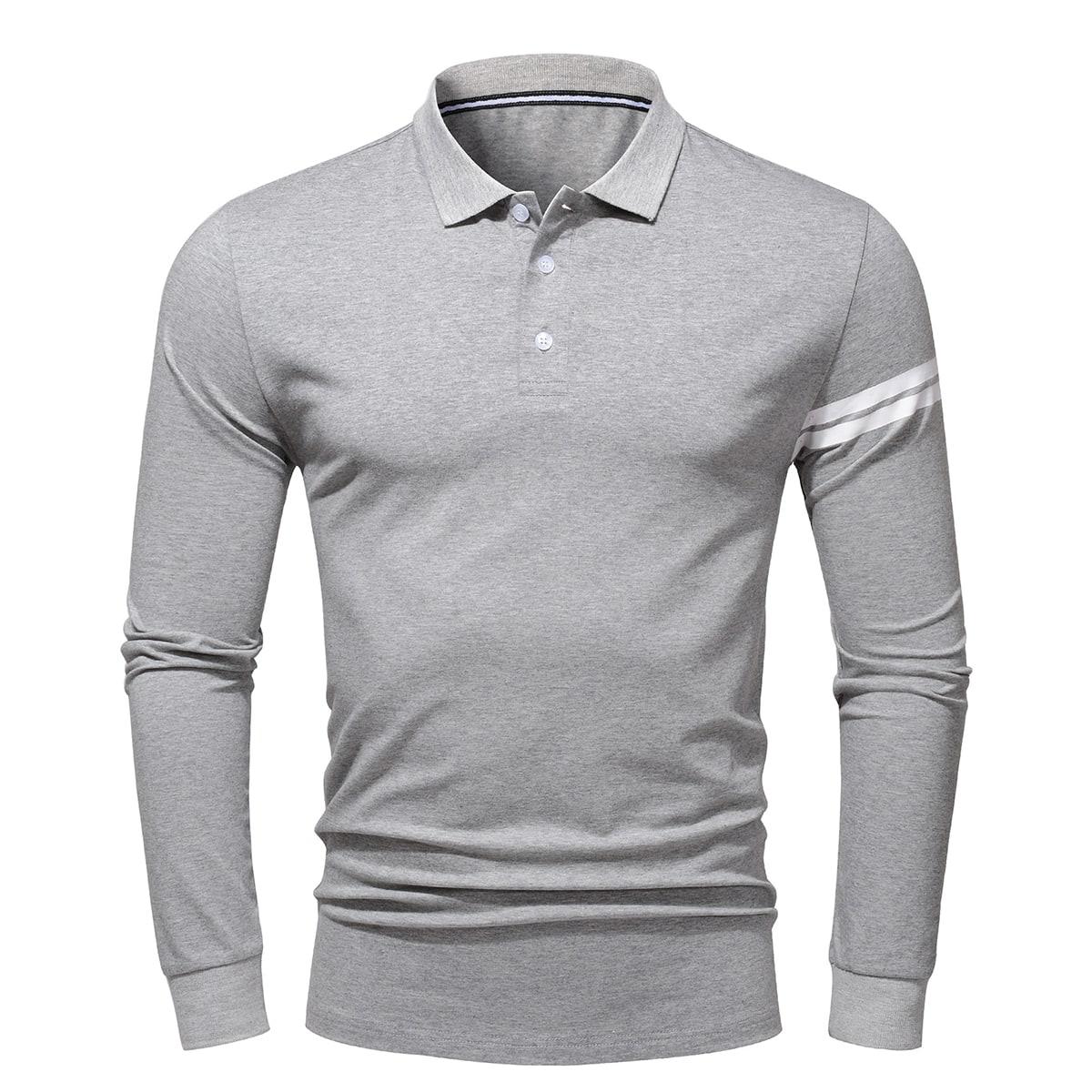 Пуговица полосатый институтский мужская рубашка-поло
