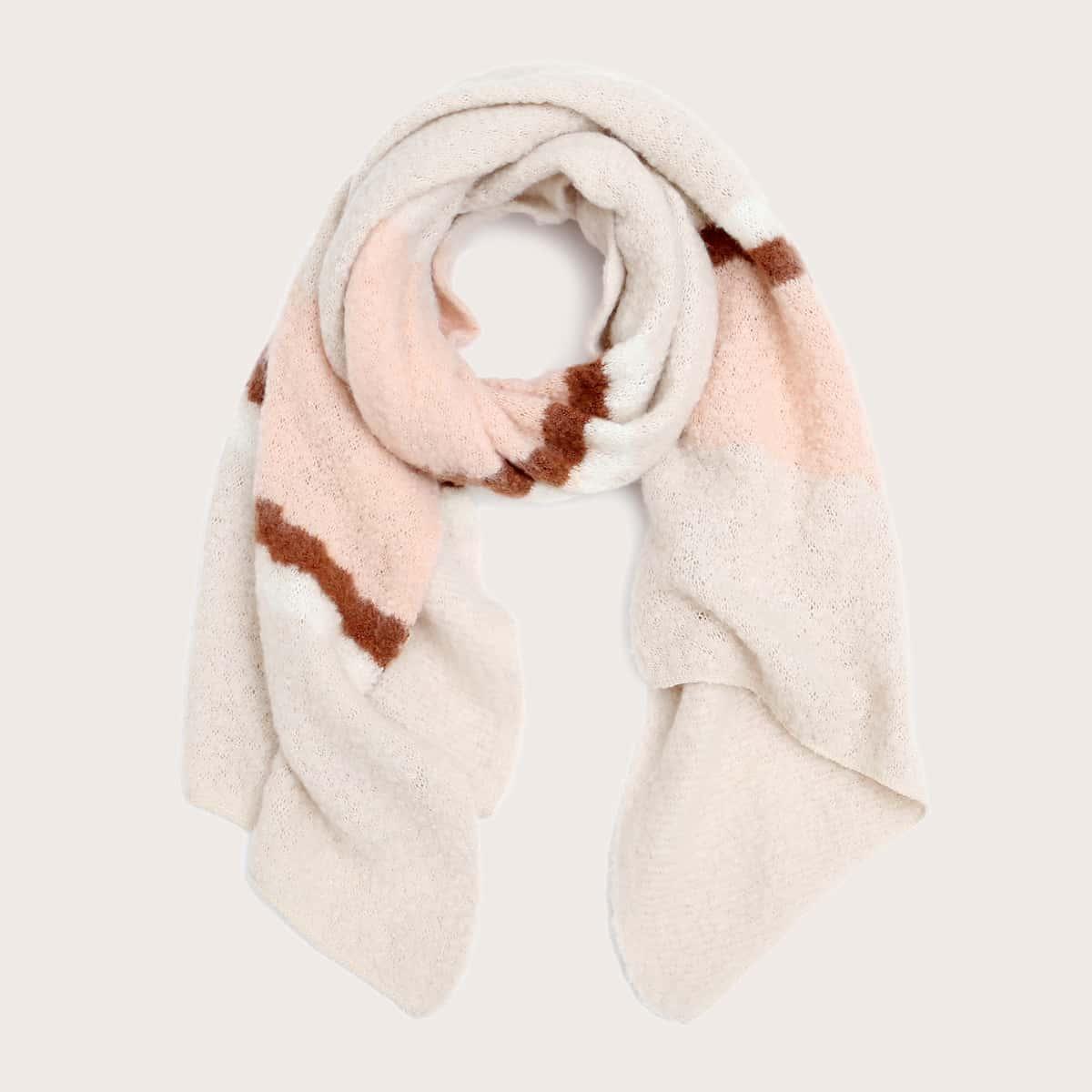 Контрастный цвет повседневный шарфы