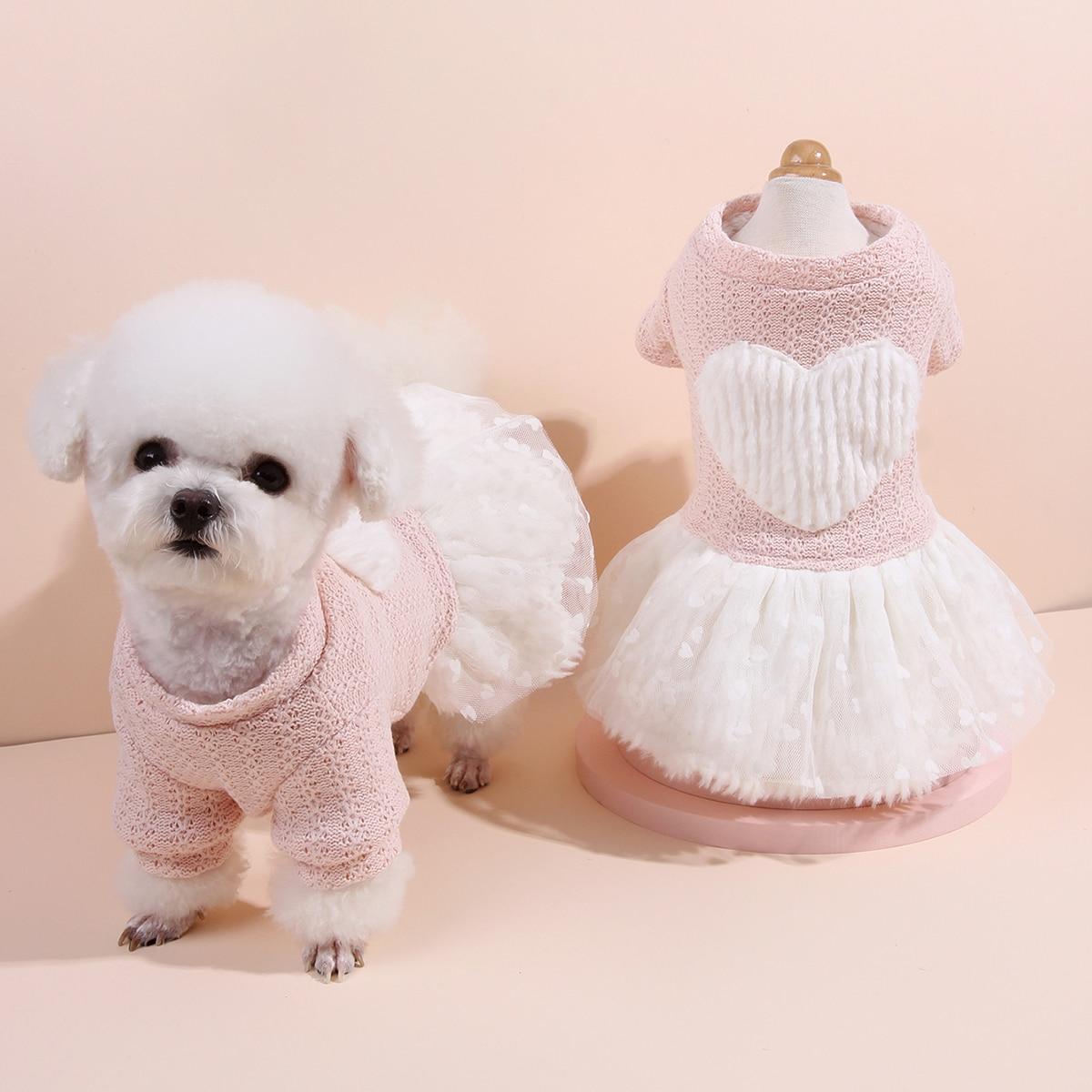 Платье для собак с сетчатым низом