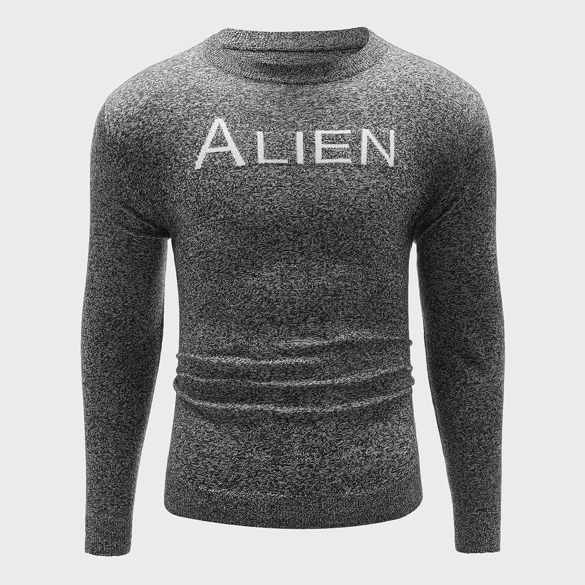 Мужской свитер с принтом букв