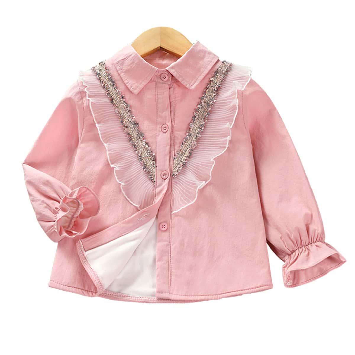 Блуза на плюшевой подкладке для девочек