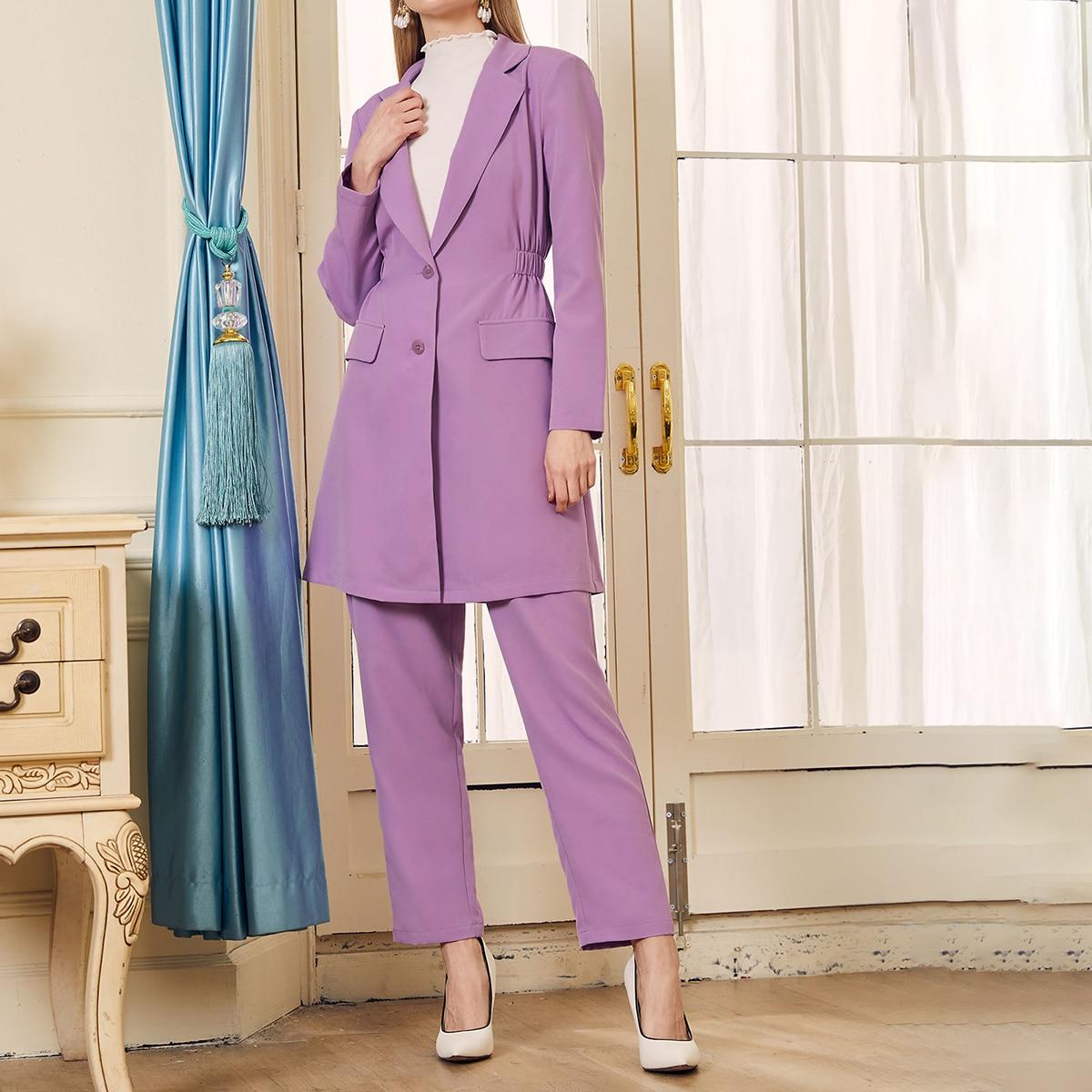 Пиджак с лацканами и брюки