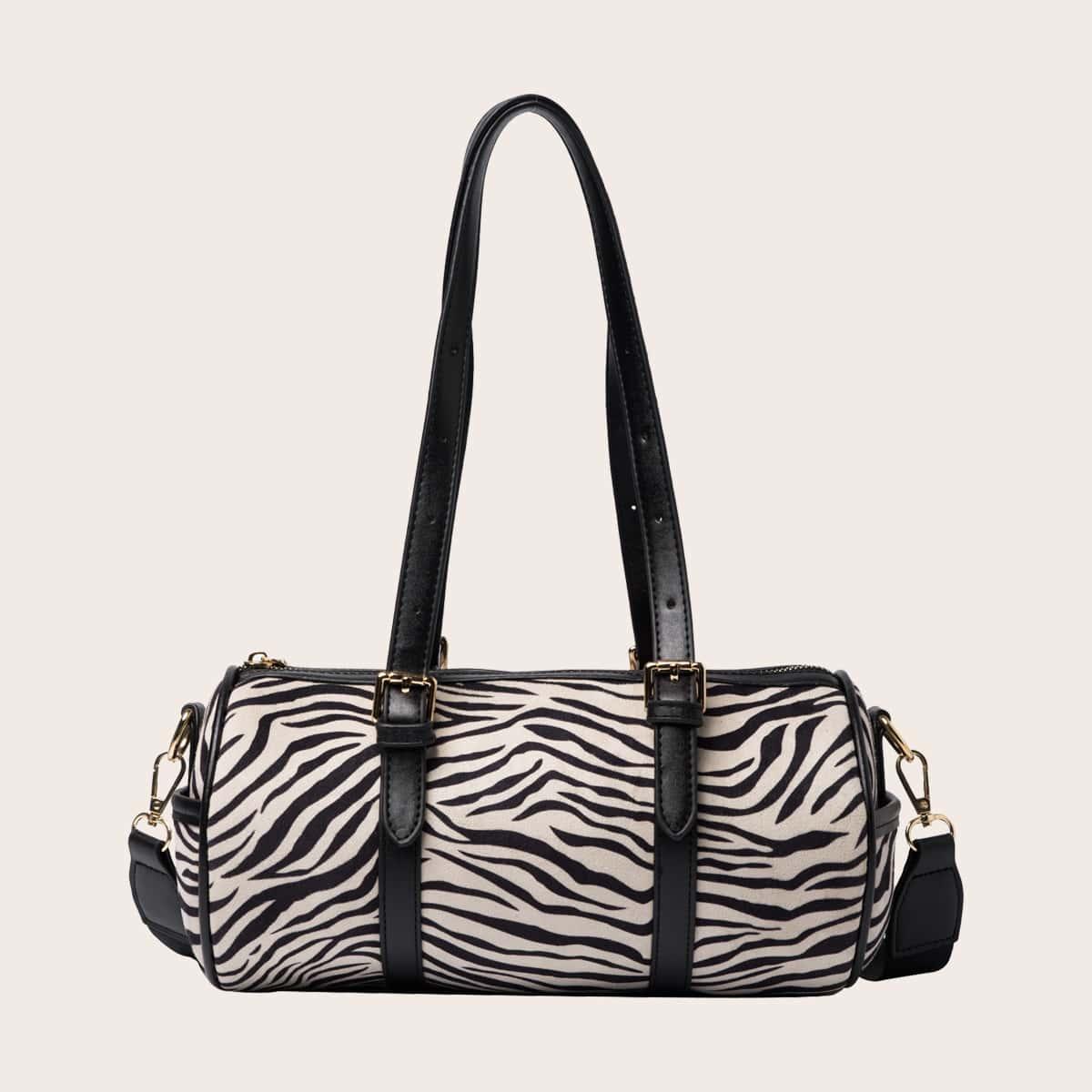 Спортивная сумка в полоску зебры