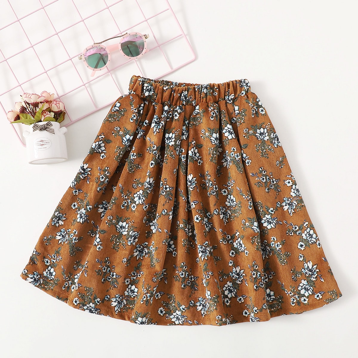 Цветочный повседневный юбки для девочек