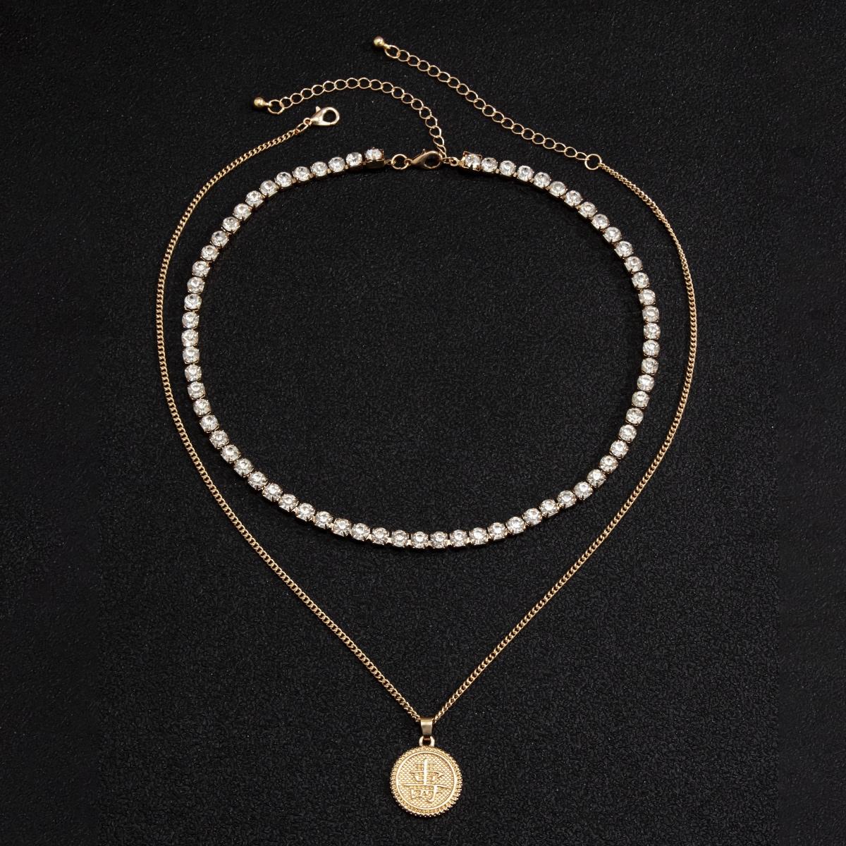 Мужское ожерелье с круглой подвеской 2шт