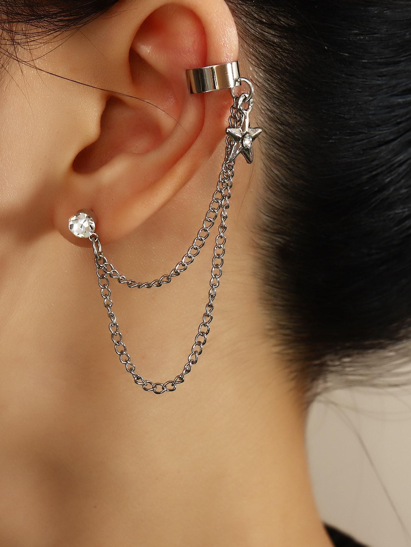1pc Rhinestone Star Decor Ear Cuff thumbnail