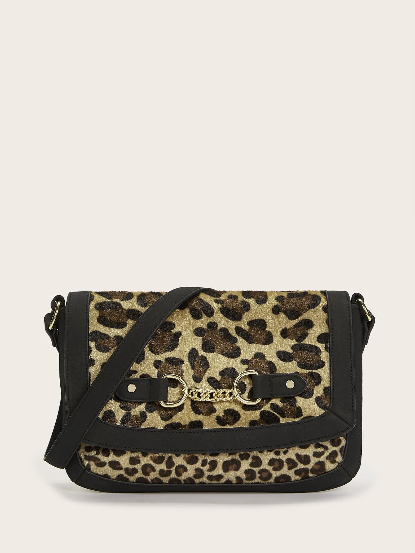 Leopard Flap Shoulder Bag thumbnail