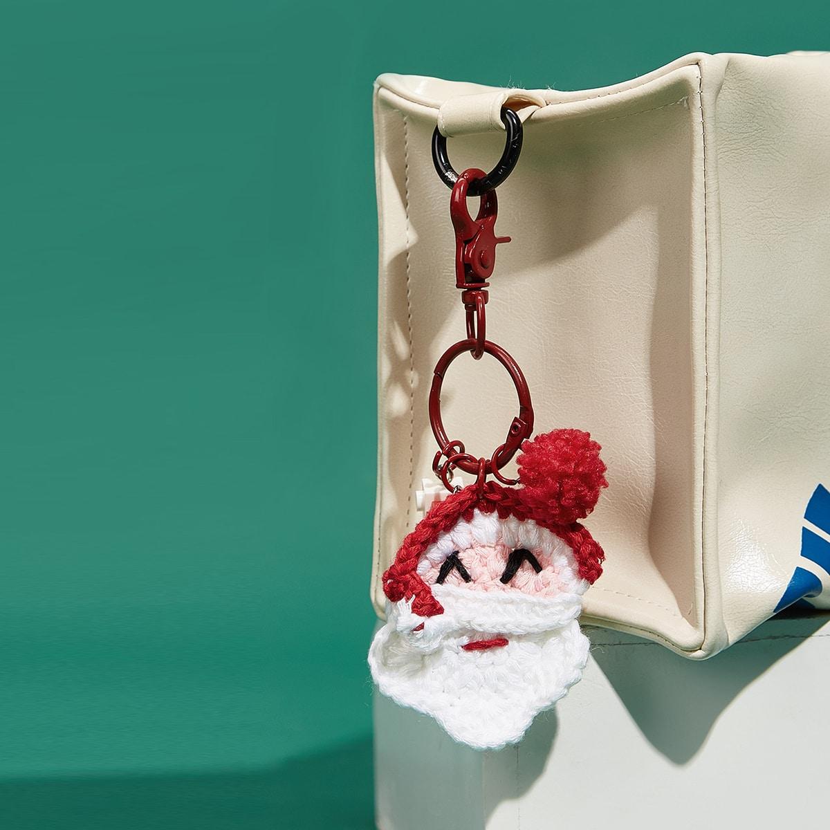 Рождество подвеска для сумки в форме деда мороза