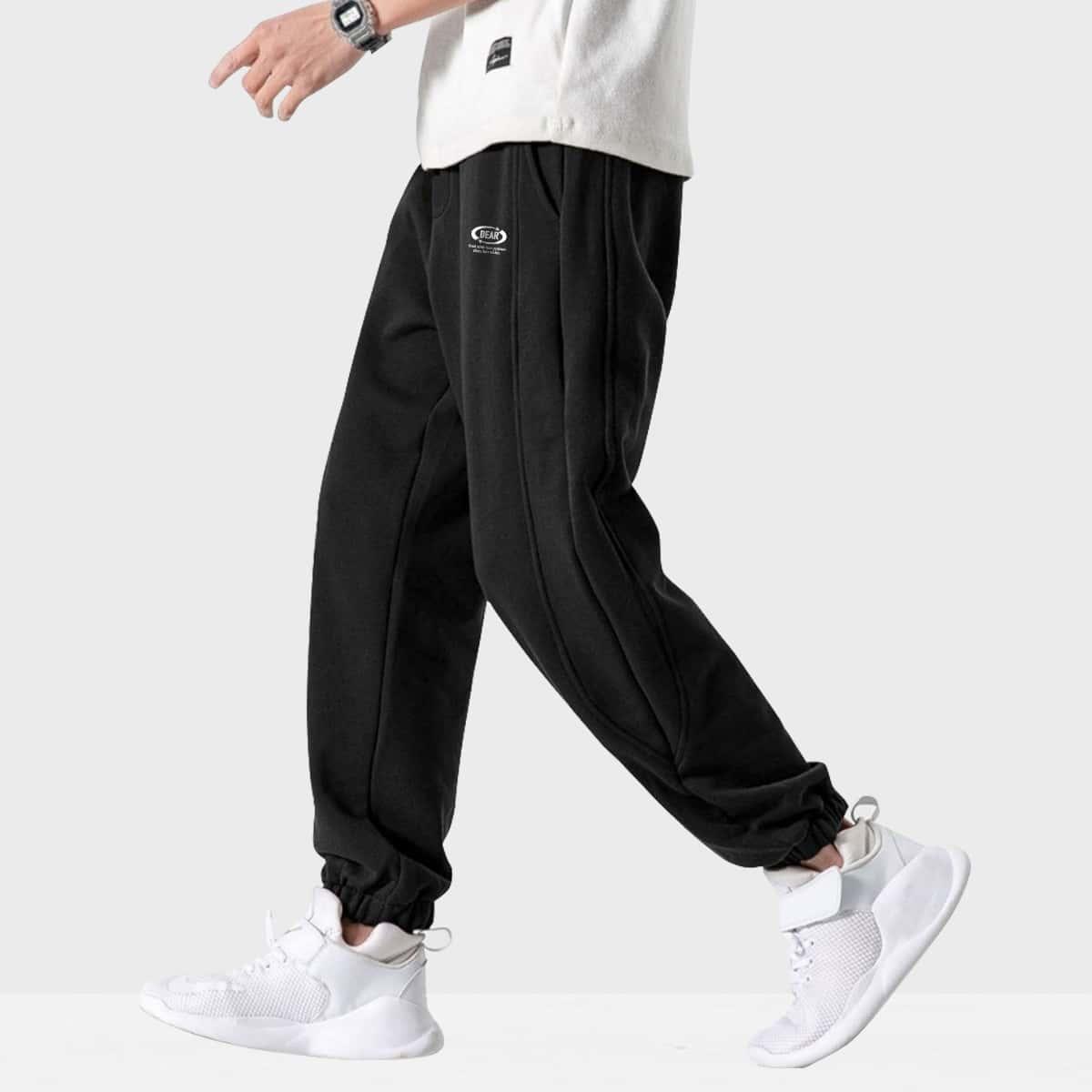 Карман буква повседневный мужские брюки