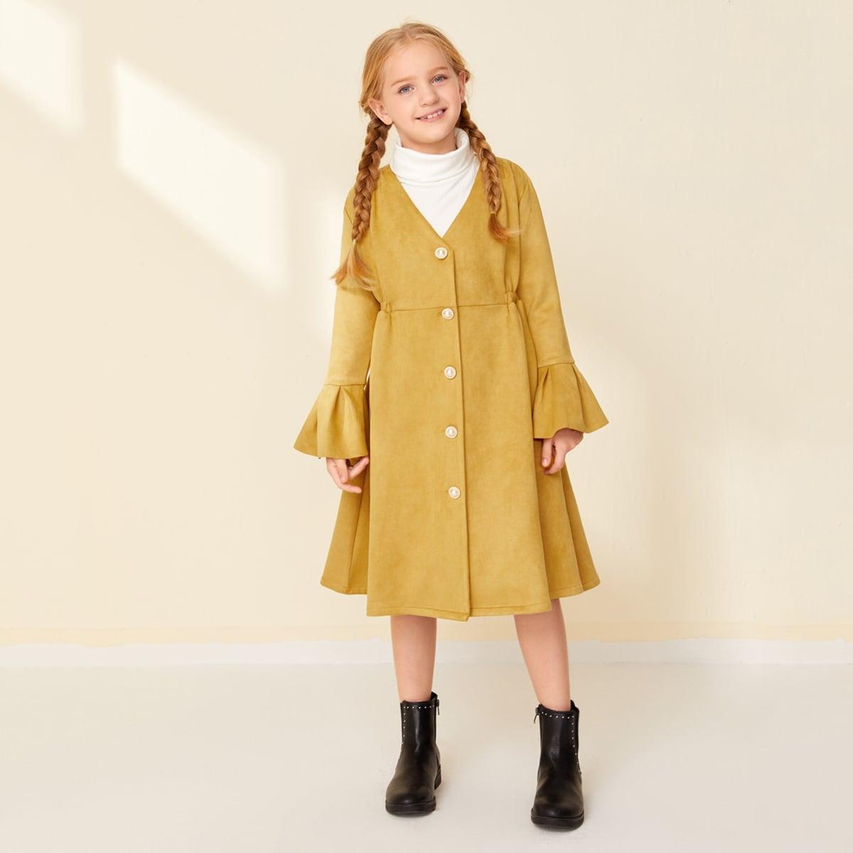 Mantel mit Schößchenärmeln und Knöpfen vorn
