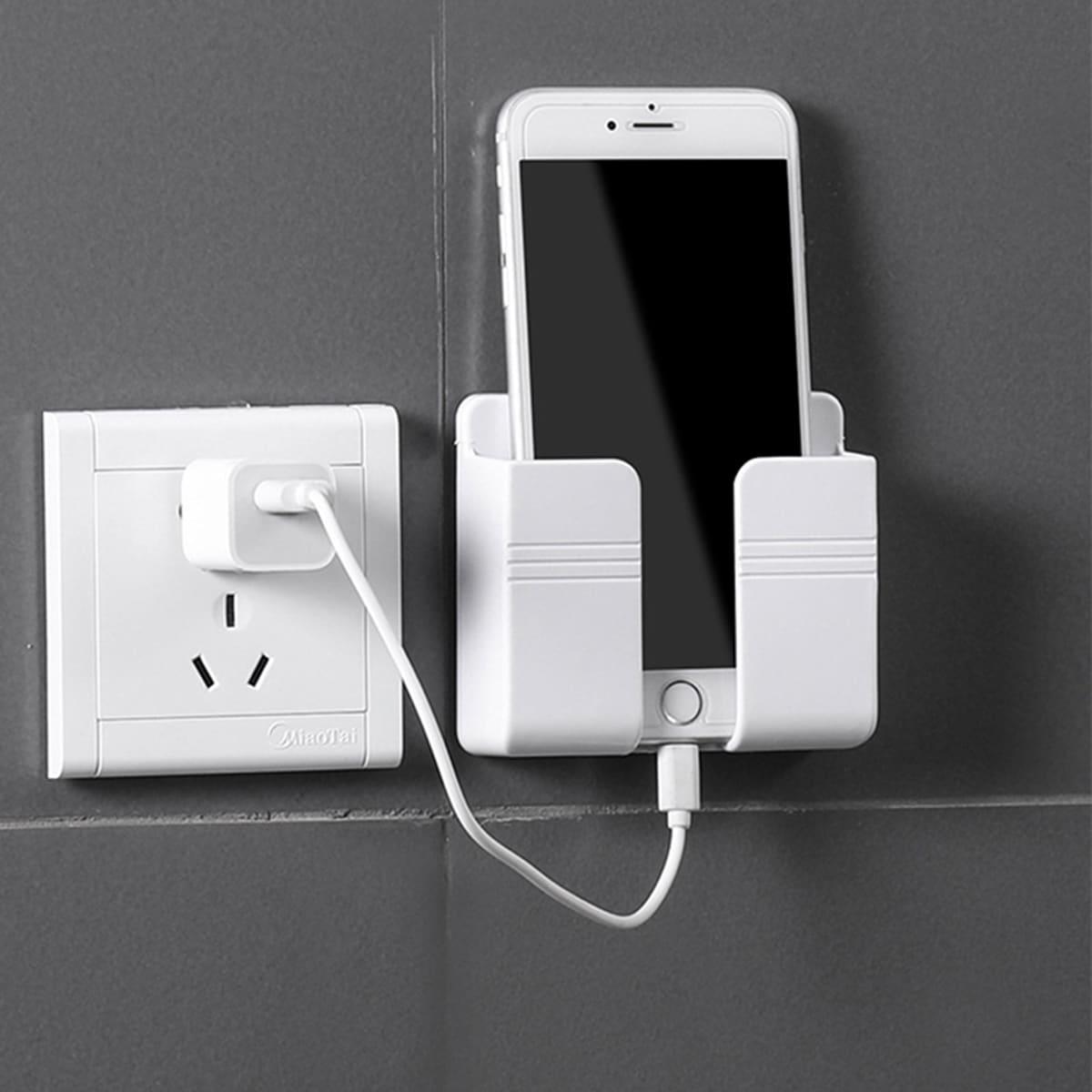 1шт Настенный держатель для зарядки телефона