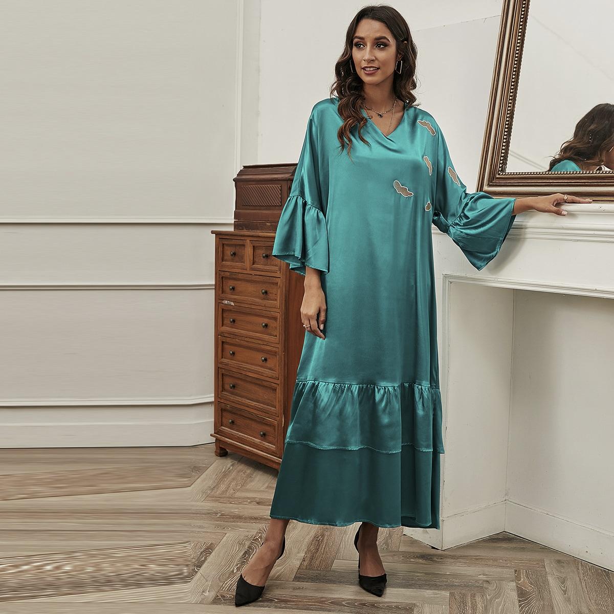 С вышивкой графический принт элегантный арабская одежда