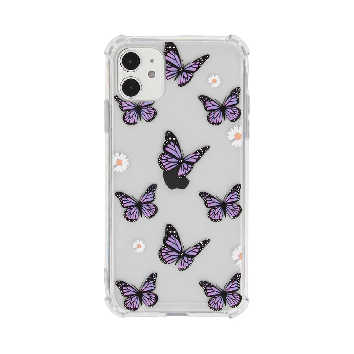 Custodia per iPhone con stampa farfalla & fiore