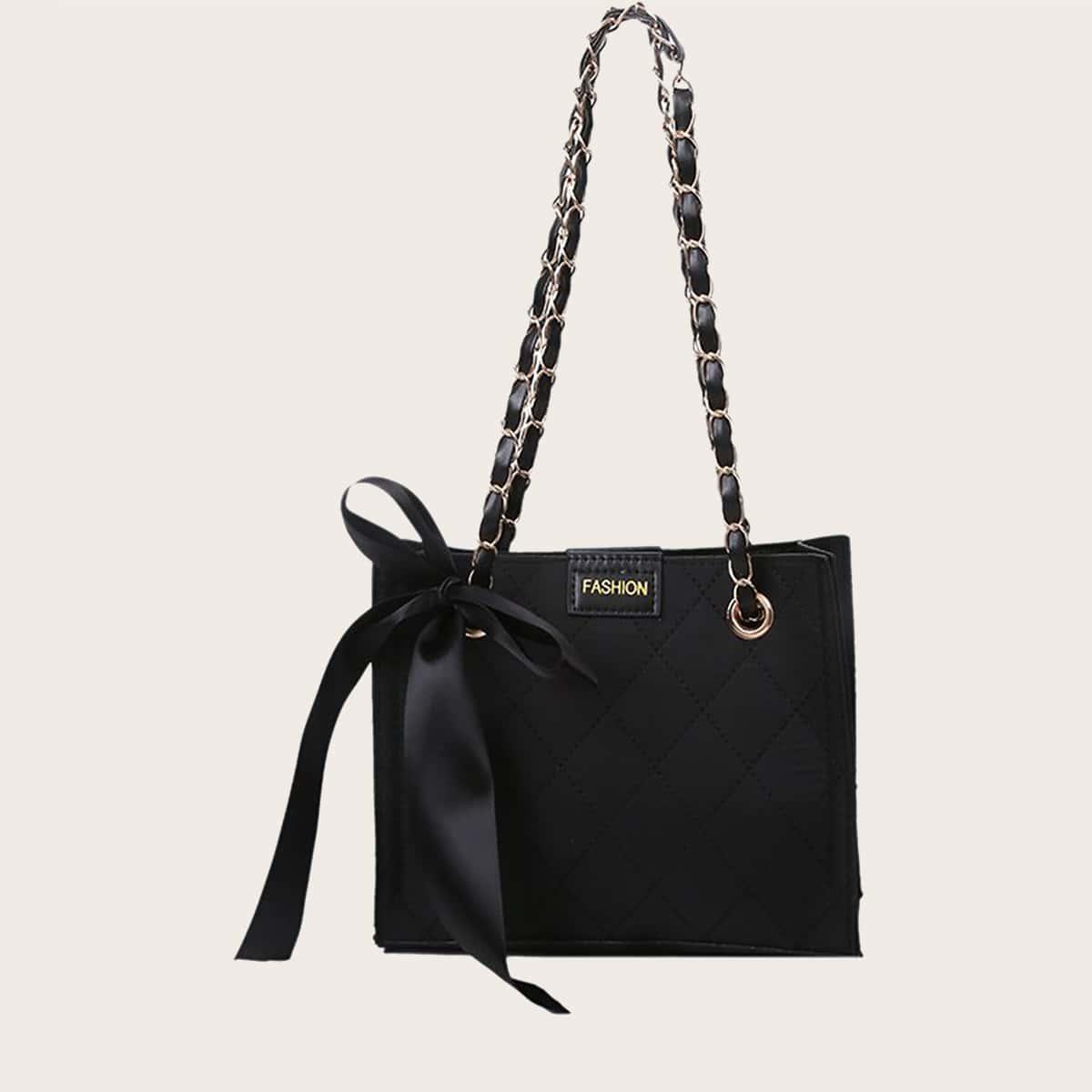 Bow Knot Decor Shoulder Bag