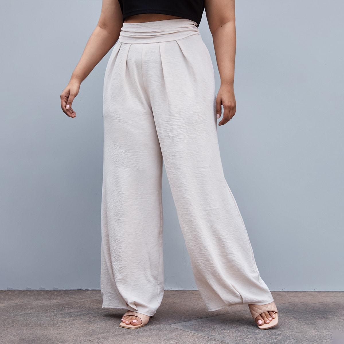 Широкие брюки размера плюс