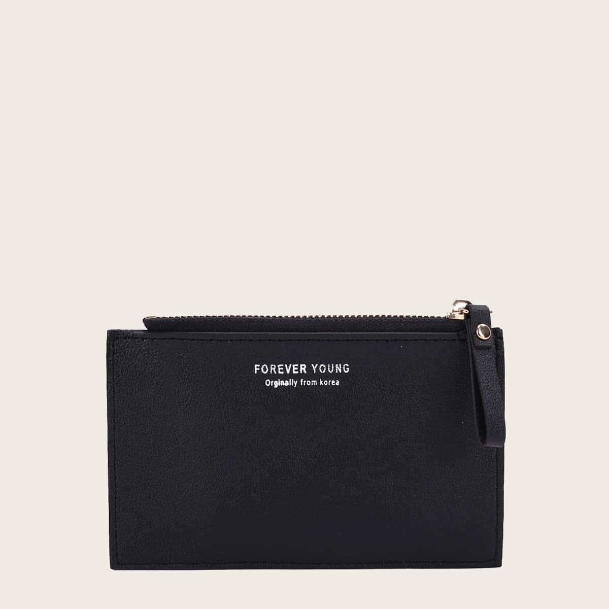 Mädchen kurze Geldtasche mit Buchstaben Grafik