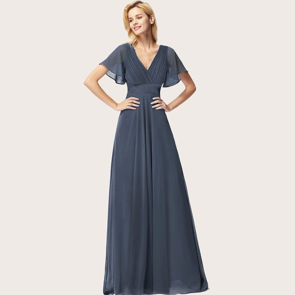 Шифоновое платье со сборками