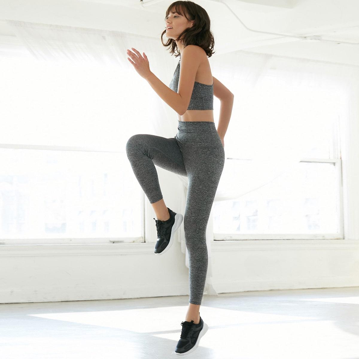 Леггинсы для йоги из спандекса