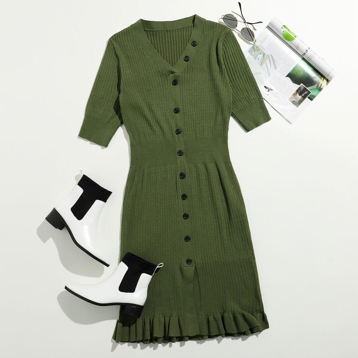 Свитер-платье размер плюс