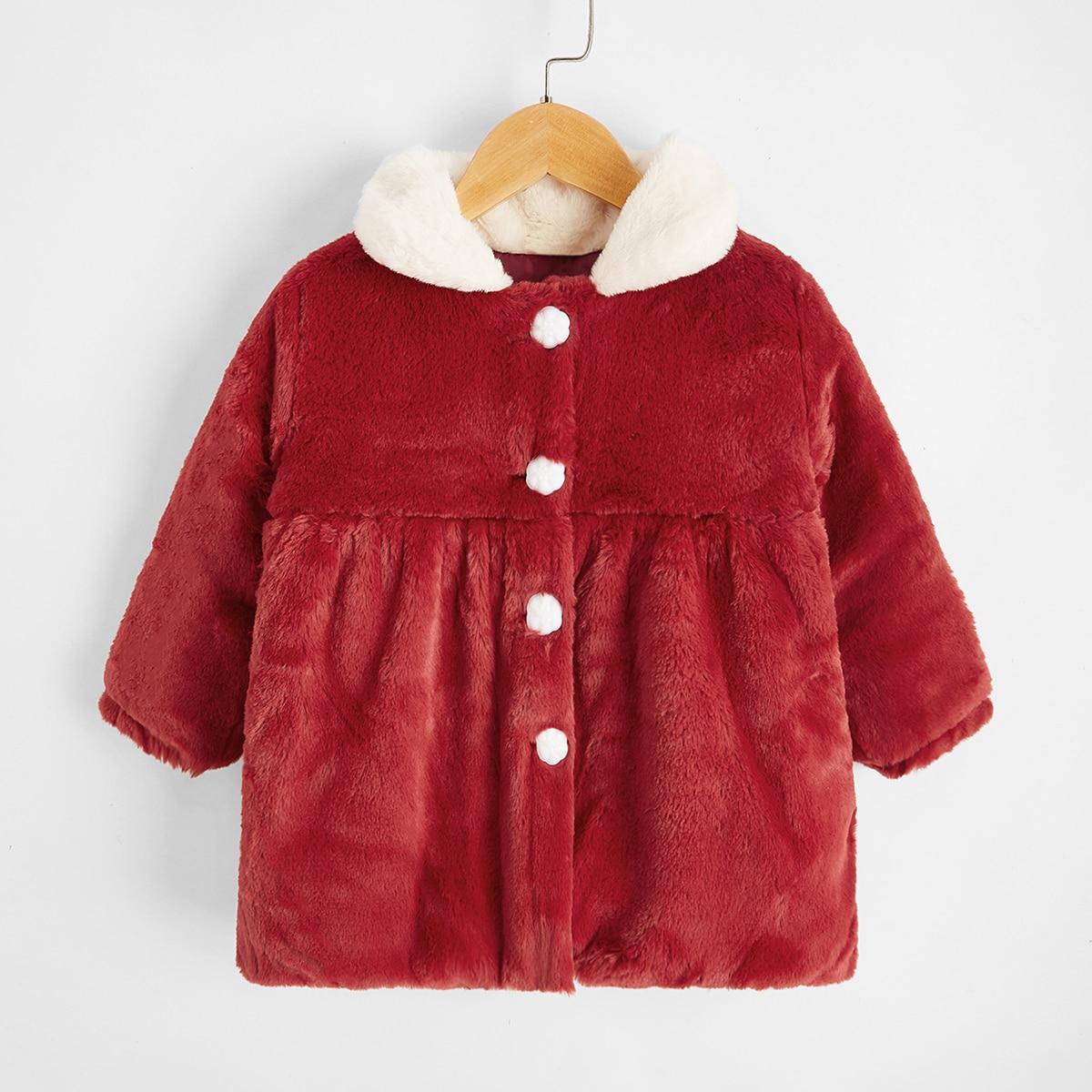 Фланелевое пальто для девочек