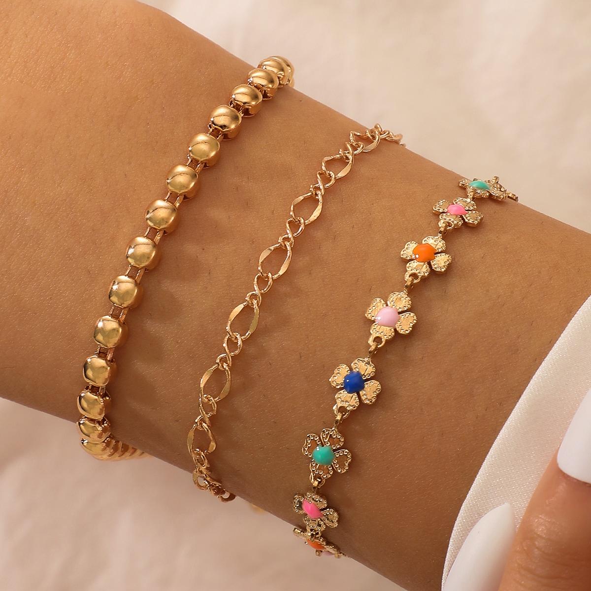3 Stücke Armband mit Blumen Dekor