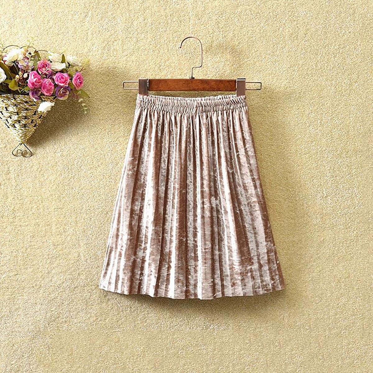 Бархатная юбка для девочек