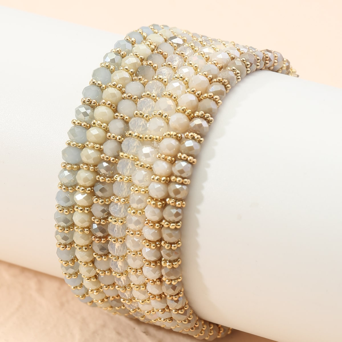 7 Stücke Armband mit einfachen Perlen