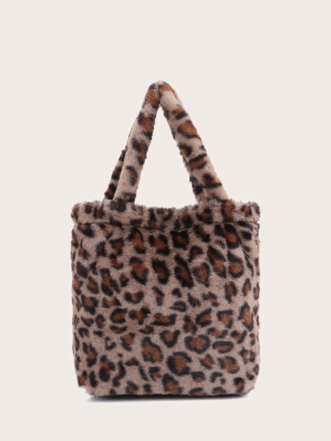 Leopard Fluffy Tote Bag thumbnail