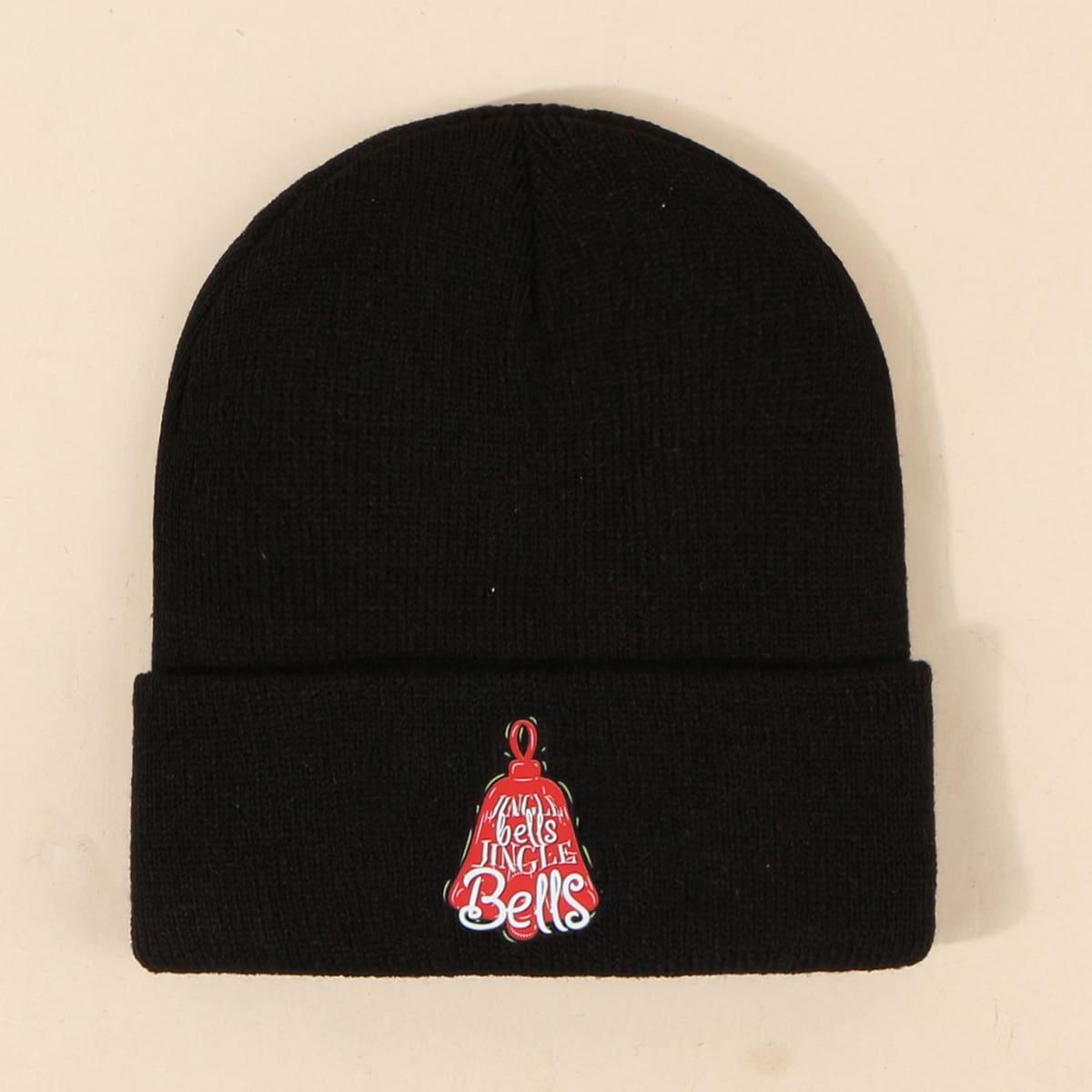 Мужская рождественская шапка с текстовым принтом