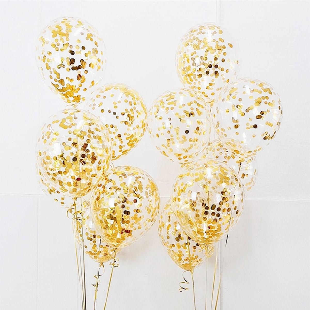 Декоративный воздушный шар конфетти 10шт