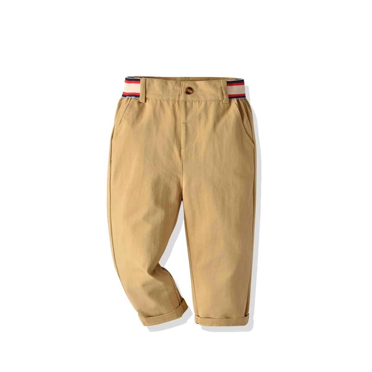 Лента полосатый повседневный брюки для мальчиков