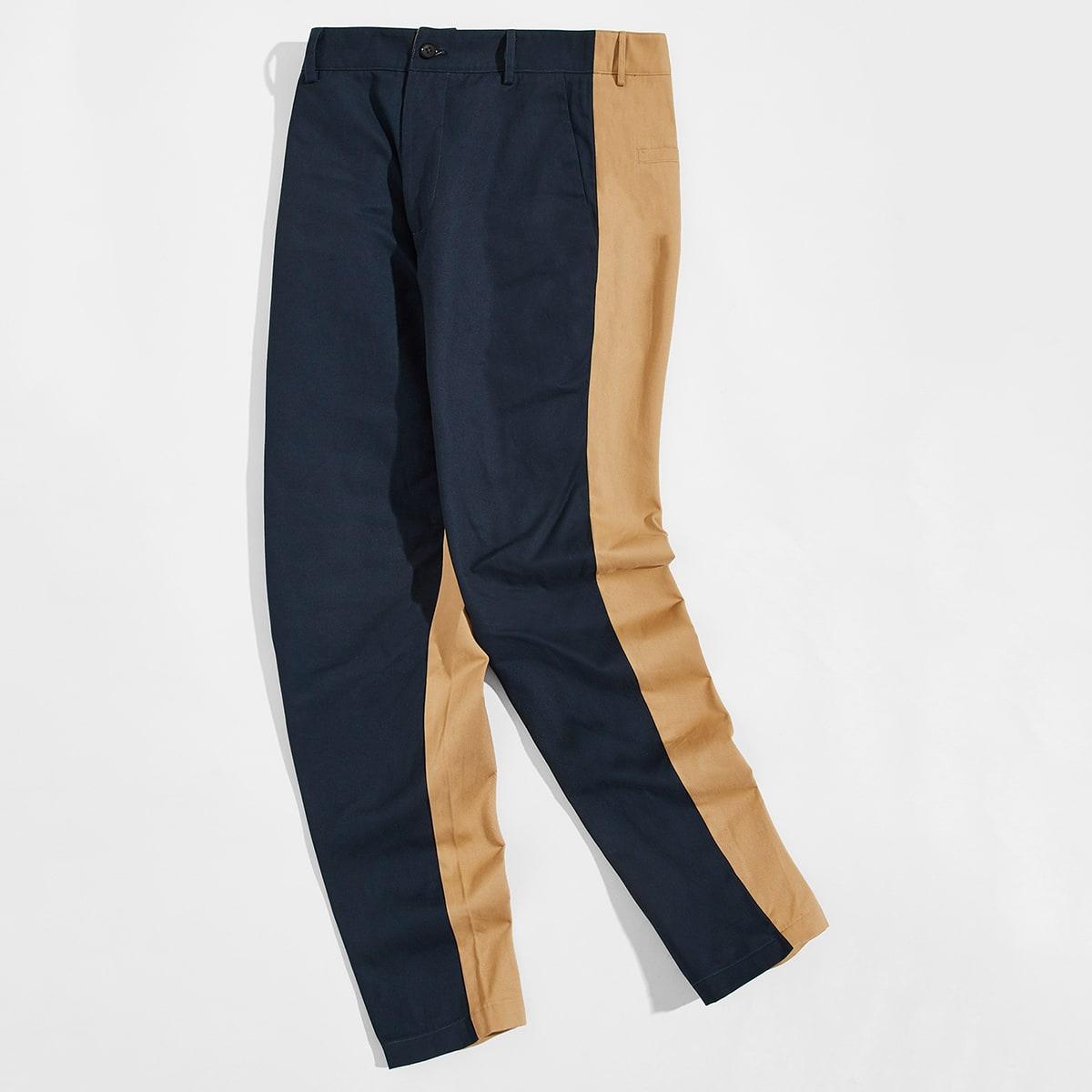Мужские контрастные брюки