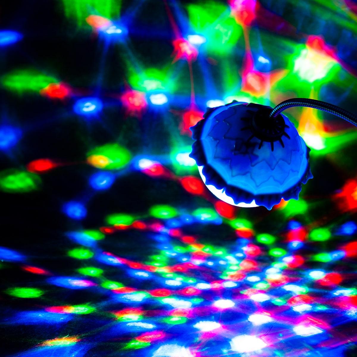 1 Stück Lotus förmiges 360 Rotierendes Disco Licht