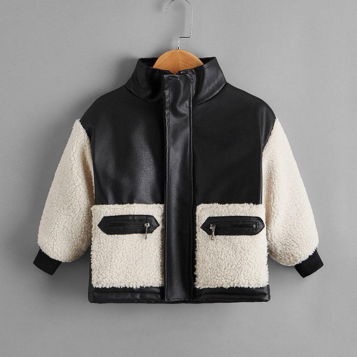 Куртка из искусственной кожи для мальчиков