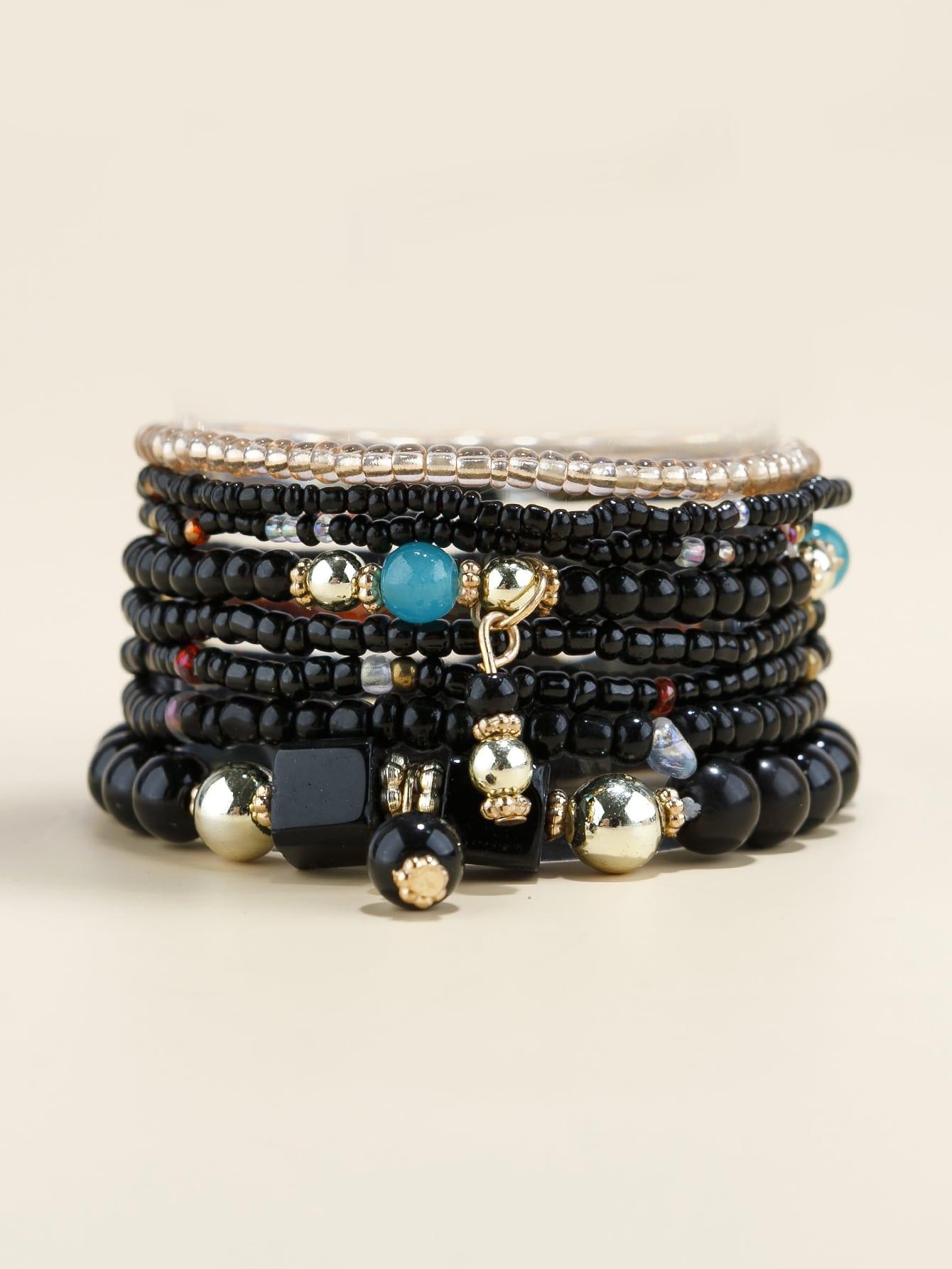 8pcs Bead Decor Bracelet thumbnail