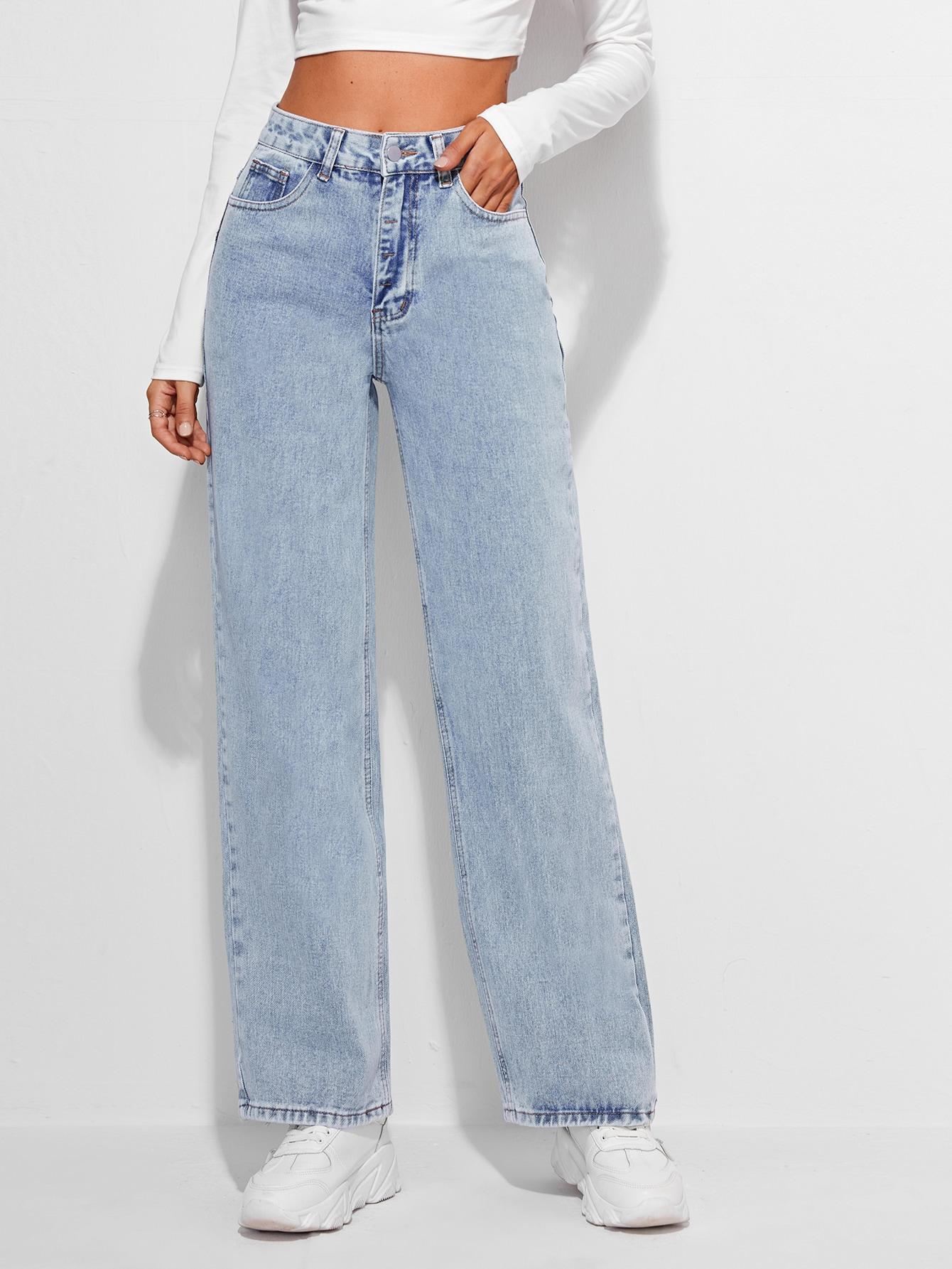 High Waist Straight Jeans thumbnail