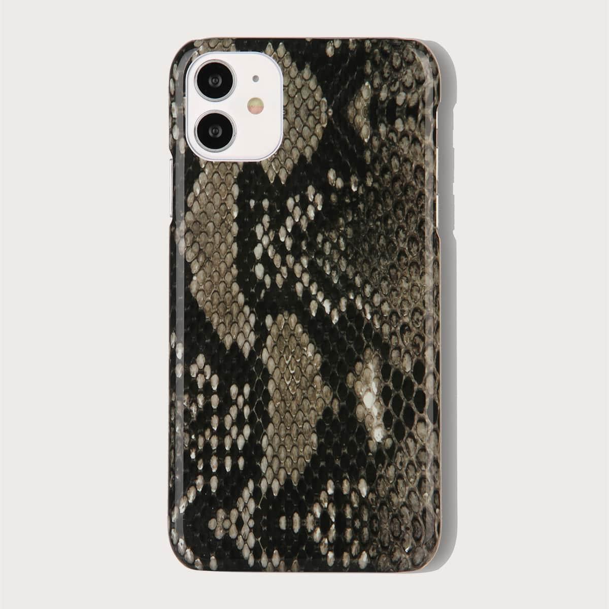 iPhone Schutzhülle mit Schlangenleder Muster