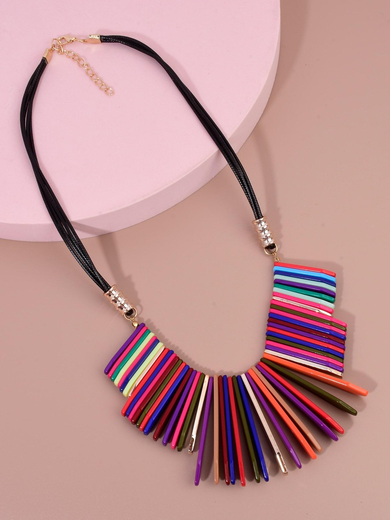 Colorful Acrylic Decor Necklace thumbnail