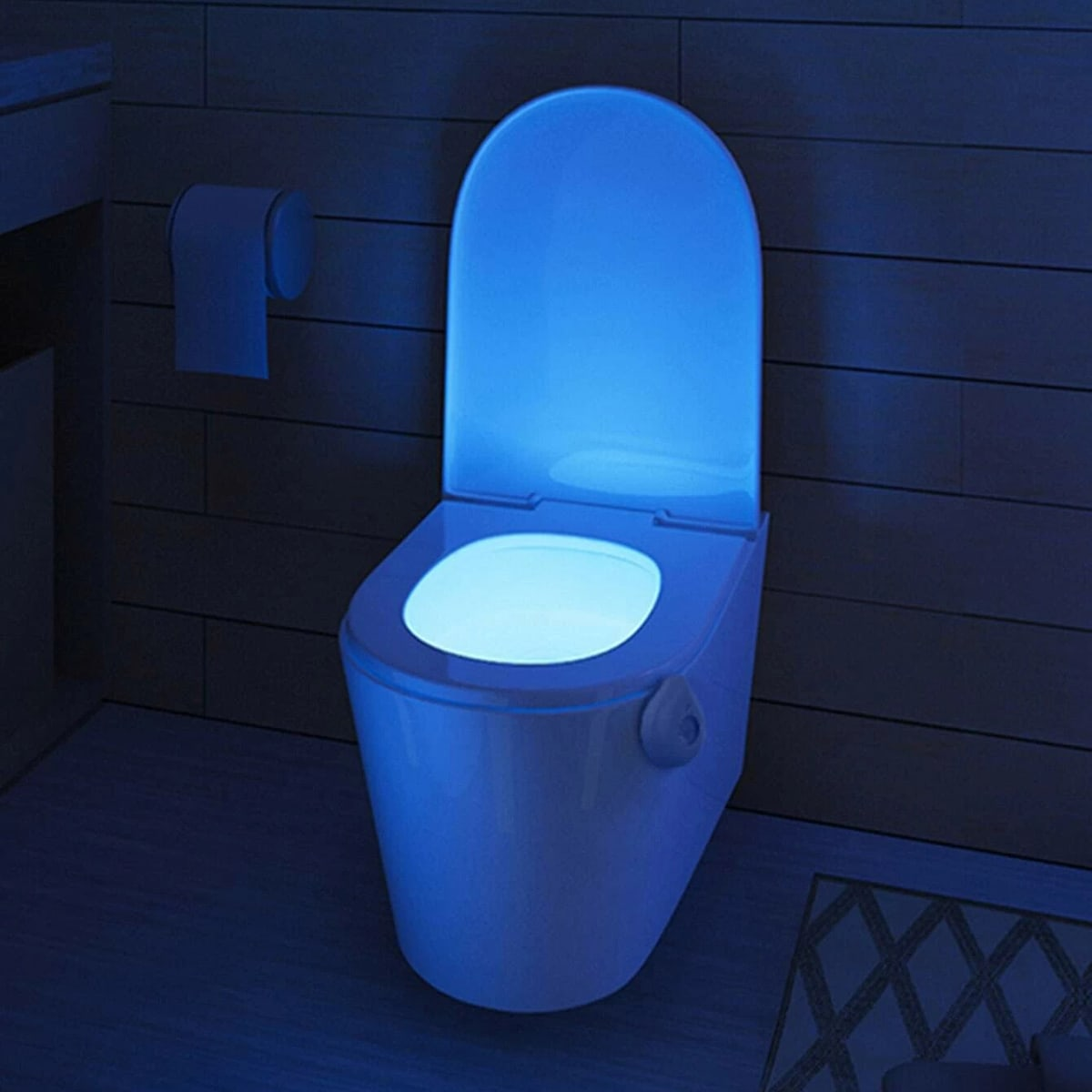 Туалет многоцветный свет