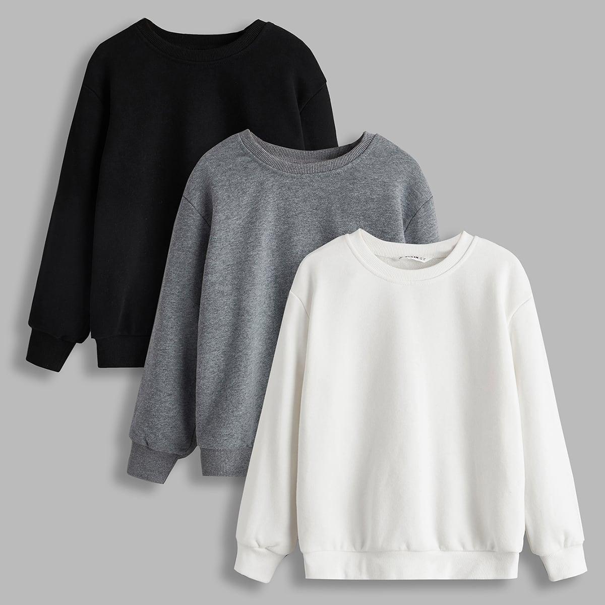 Однотонный пуловер для мальчиков 3шт