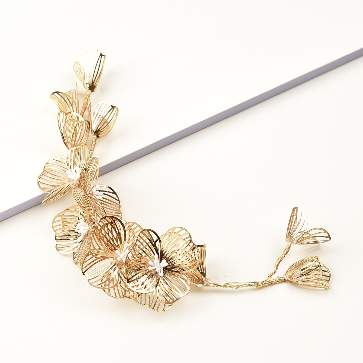 Hollow Out Flower Hair Clip