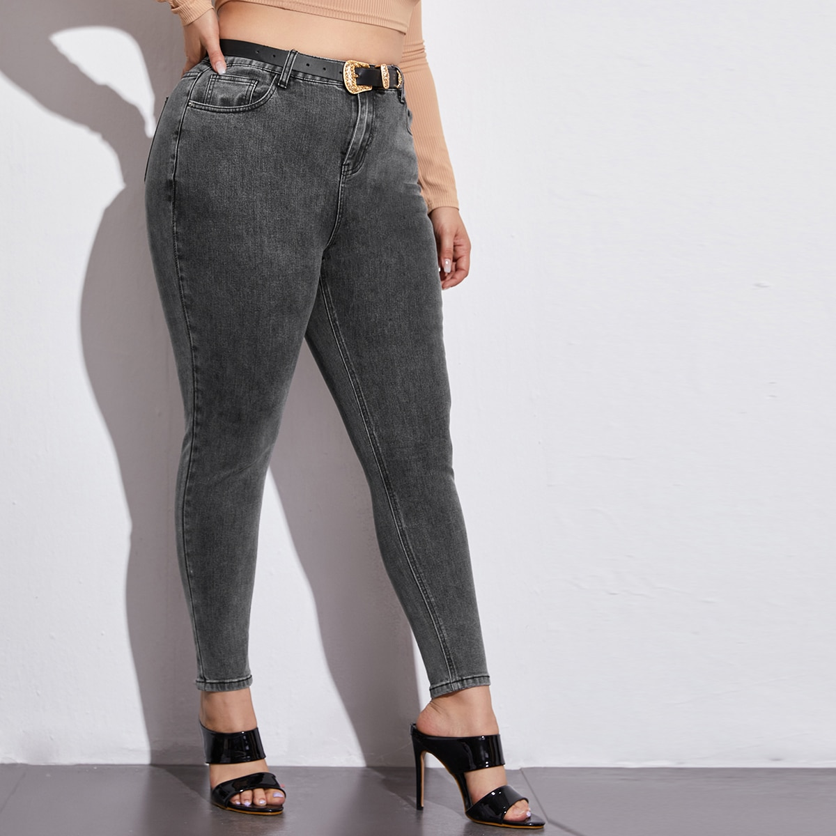 Plus High Waisted High Stretch Skinny Jeans