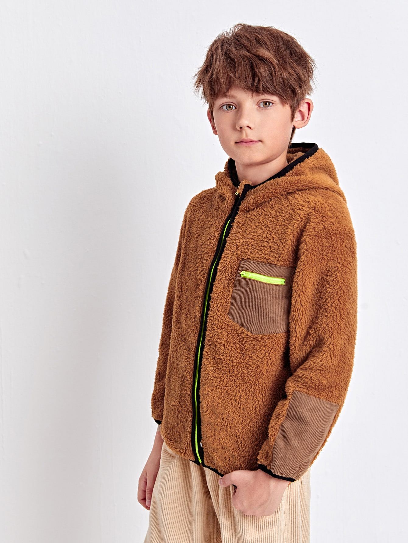 Boys Zip Up Teddy Jacket