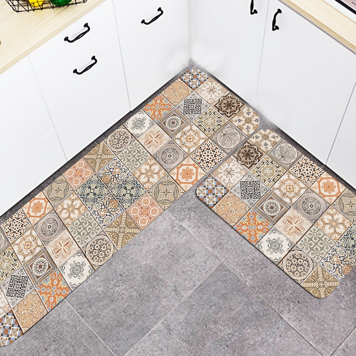 1 Stück Teppich mit Vintage Muster