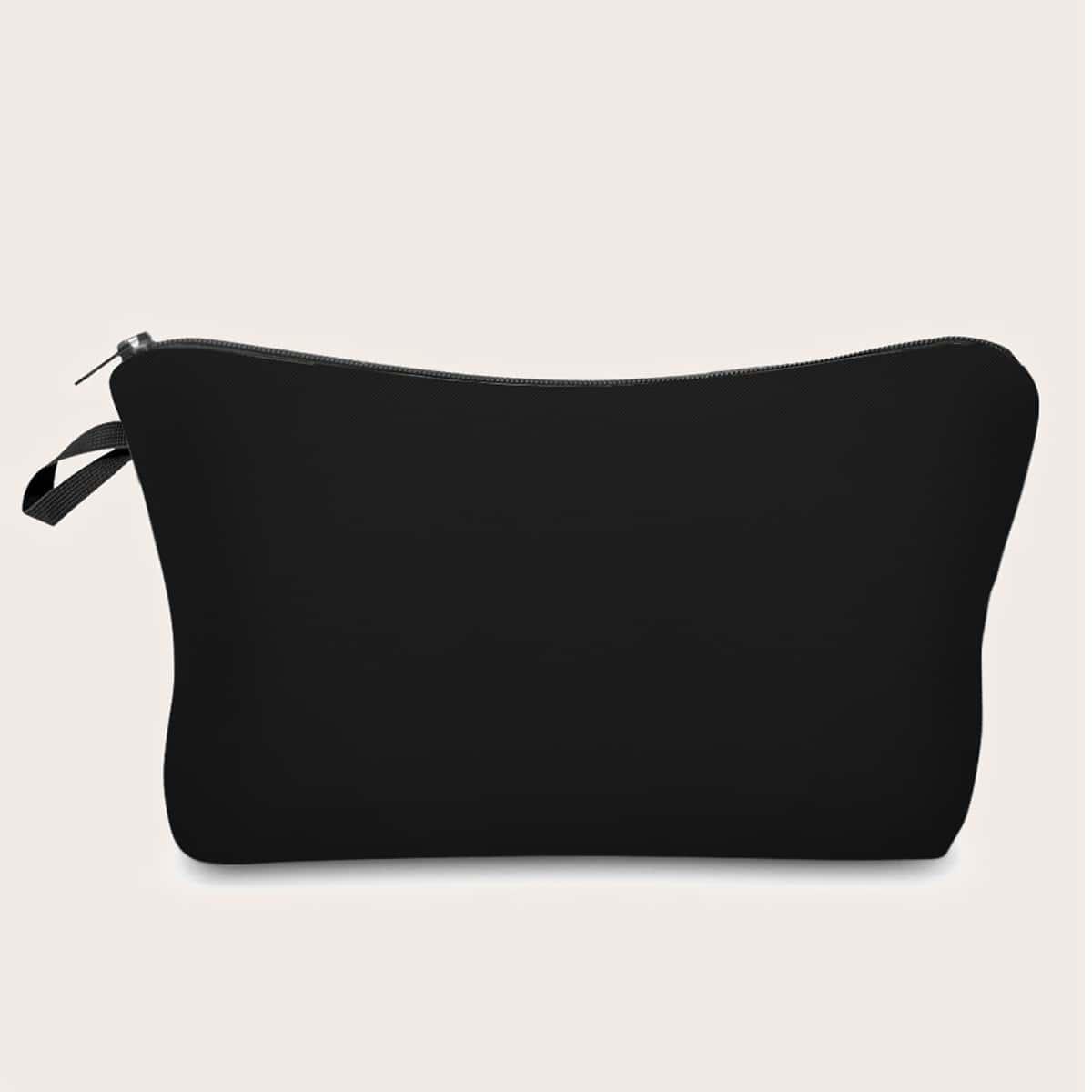 Однотонная косметическая сумка