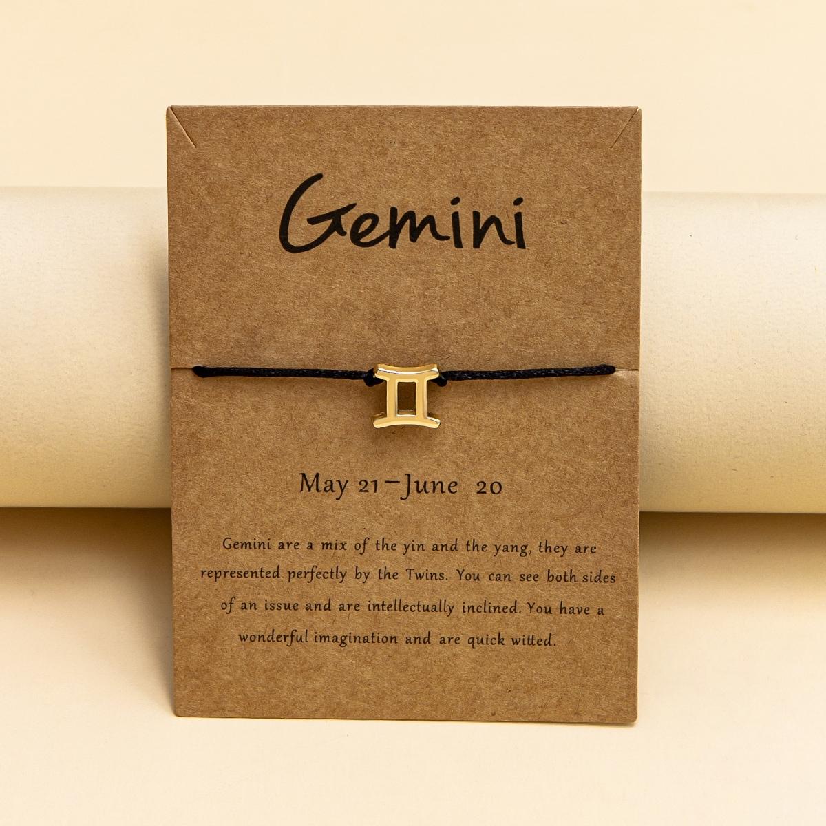 Armband mit Konstellation Dekor und Schnur